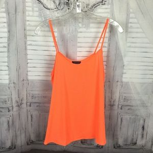 Topshop Bright Orange Semi Sheer Cami Tank Top 6